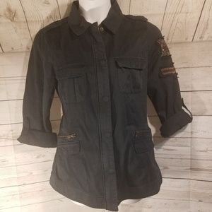 NWT Torrid Black Military Style Jacket